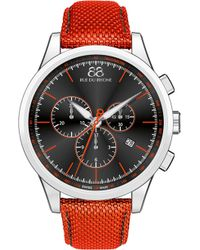 88 Rue Du Rhone - 87wa154301 Stainless Steel And Leather Watch - Lyst
