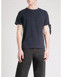 J.W.Anderson - Knot-sleeve Cotton-jersey T-shirt - Lyst