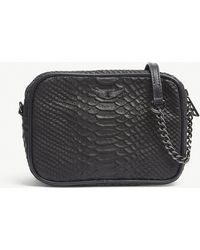 Zadig & Voltaire - Noir Black Boxy Savage Cross Body Bag - Lyst