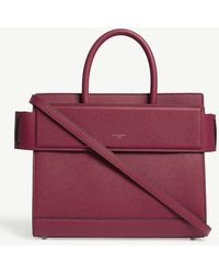 Givenchy - Fig Pink Grained Modern Horizon Leather Tote Bag - Lyst