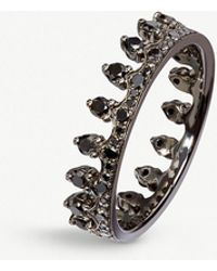 Annoushka - Crown 18ct White Gold And Black Diamond Ring - Lyst