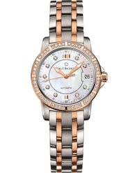 Carl F. Bucherer - Stainless Steel And Rose-gold Diamond Watch - Lyst