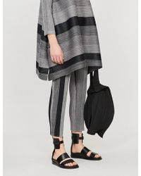 Pleats Please Issey Miyake - Cropped High-rise Pleated Trousers - Lyst