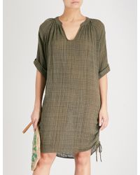 Seafolly - Bali Hai Cotton-blend Kaftan - Lyst