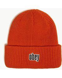 Obey - Jungle Rib-knit Beanie - Lyst