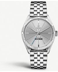 Vivienne Westwood - Water Resistant Womens Silver Stripe Vv192slsl Stainless Steel Watch - Lyst