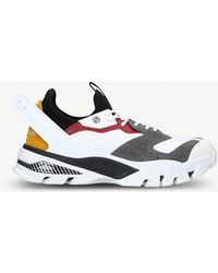 CALVIN KLEIN 205W39NYC - Carlos 52 Leather And Suede Trainers - Lyst