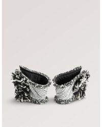 CATHERINE OSTI - Eleonore Cotton-tweed Cuffs - Lyst