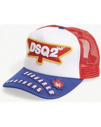 DSquared² - Logo Trucker Snapback Cap - Lyst