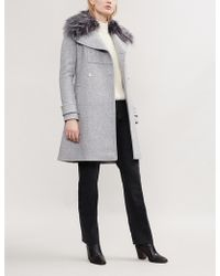 MICHAEL Michael Kors - Faux Fur-trimmed Wool-blend Coat - Lyst