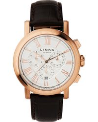 Links of London - Richmond Rose Gold-plated Chronograph Watch - Lyst