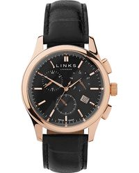 Links of London - Regent Rose Gold-plated And Leather Watch - Lyst