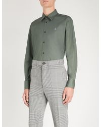 Vivienne Westwood - Logo-embroidered Classic-fit Cotton Shirt - Lyst
