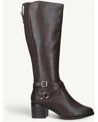 Nine West - Raleigh Buckle-detail Leather Boots - Lyst