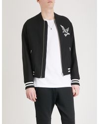 The Kooples - Cuba Embroidered Wool Bomber Jacket - Lyst