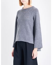 Co. - Dropped-hem Knitted Jumper - Lyst