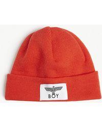 a3f22c7102d8 BOY London - Logo Knitted Fisherman Beanie - Lyst