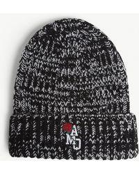 Alexander McQueen - Logo Knitted Wool Beanie Hat - Lyst