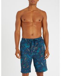 Derek Rose - Enchanted Pond Cotton Shorts - Lyst