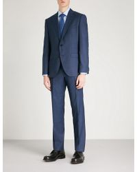 BOSS - Textured Regular-fit Wool Suit - Lyst