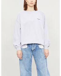 Acne Studios - Logo-embroidered Cotton-jersey Jumper - Lyst