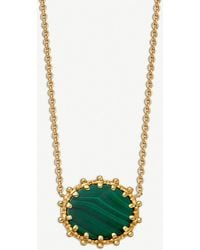 Astley Clarke - Floris 18-carat Yellow Gold Vermeil And Malachite Pendant - Lyst