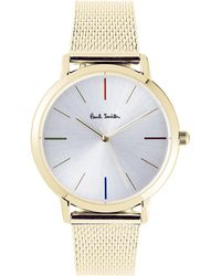 Paul Smith - P10103 Ma Gold-plated Stainless Steel Watch - Lyst