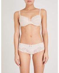 Chantelle - Orangerie Mesh And Lace 3-part Bra - Lyst