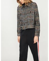 Free People - Checked Woven Eisenhower Jacket - Lyst