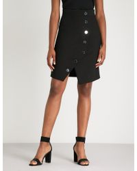 Maje - Asymmetric-front Woven Skirt - Lyst