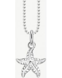 Thomas Sabo - Glam & Soul Starfish Sterling Silver Necklace - Lyst