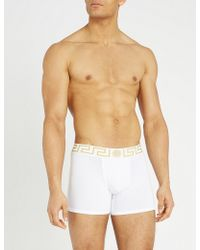 Versace - Iconic Stretch-cotton Trunks - Lyst