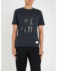 Replay - Sport Lab Rubberised-slogan Cotton-jersey T-shirt - Lyst