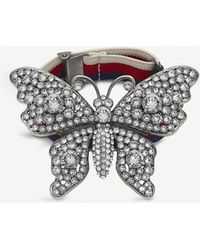 09bdd8038 Gucci Flora 18ct Rose Gold Butterfly Bracelet in Metallic - Lyst