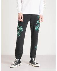 BBCICECREAM - Palm-embroidered Cotton-jersey Jogging Bottoms - Lyst