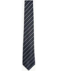 Armani - Chevron Stripes Silk Tie - Lyst