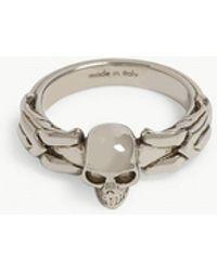 Alexander McQueen - Textured Skull Ring - Lyst