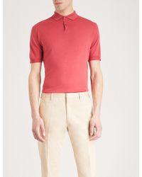 John Smedley - Payton Wool Polo Shirt - Lyst