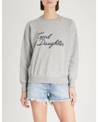 GOOD AMERICAN - Good Daughter Cotton-jersey Sweatshirt - Lyst