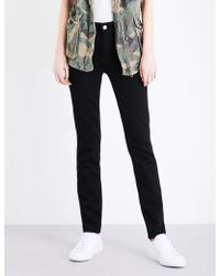 PAIGE - Hoxton Skinny Mid-rise Jeans - Lyst