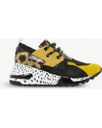 d31b2c10b87 Steve Madden Cliff Leather And Suede Animal Print Sneakers - Lyst