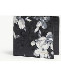 Givenchy - Hydrangea-print Leather Billfold Wallet - Lyst