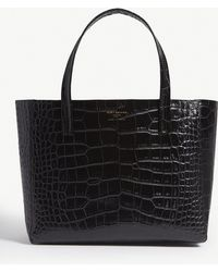 Kurt Geiger - Violet Reptile-effect Leather Horizontal Tote - Lyst