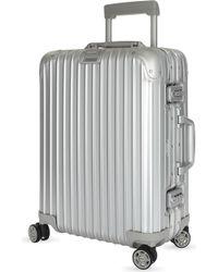 Rimowa - Topas Aluminium Four-wheel Cabin Suitcase 55cm - Lyst