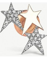 The Alkemistry - Kismet By Milka Star 14ct Rose-gold And Diamond Ear Cuff - Lyst