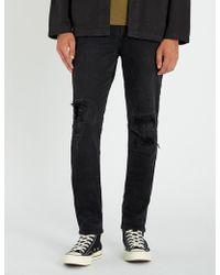 Ksubi - Chitch Boneyard Regular-fit High-rise Distressed Stretch-denim Jeans - Lyst