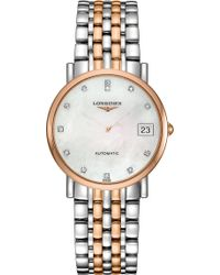 Longines - L4.809.5.87.7 Elegant Collection 18ct Rose Gold And Stainless Steel Watch - Lyst