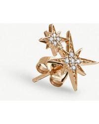 The Alkemistry - Sydney Evan 14ct Rose-gold And Diamond Star Earring - Lyst