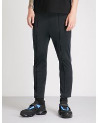 Prada - Contrast-piped Slim-fit Jersey Jogging Bottoms - Lyst