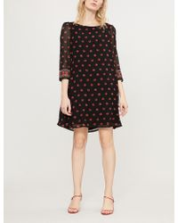 Claudie Pierlot - Flared Floral-print Crepe Mini Dress - Lyst